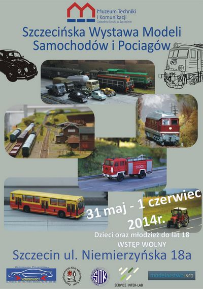 plakat kolejowo samochodowy